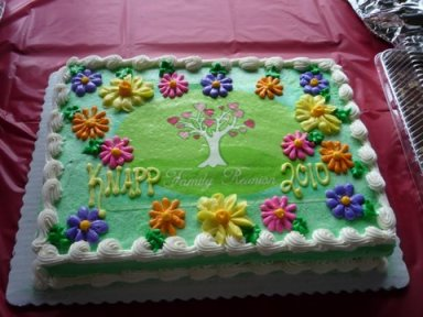 2010 Knapp Family Reunion Cake